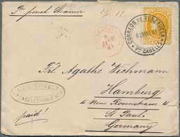 Beleg 11881/82, Geschäftskorrespondenz, 25 C. Gelb Bolivar Auf Schiffsbrief Von Pto.Cabello Nach Hamburg, 20 Pfg.Adler A - Venezuela