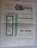 Ancienne Publicité - Entête - Laboratoire Pharmaceutique - J Mousnier & Cie - Sceaux - Droguerie & Parfumerie