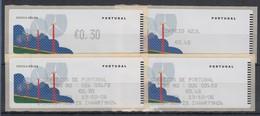 Portugal 2006 ATM Wind-Energie Monétel Mi-Nr 55.1 Und 55.2  ** Je Mit AQ  - ATM/Frama Labels