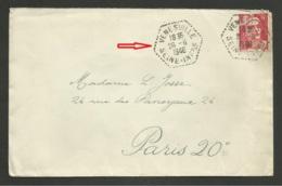 SEINE MARITIME / Agence Postale Rurale VENESVILLE / Marianne De Gandon 1948 - Postmark Collection (Covers)