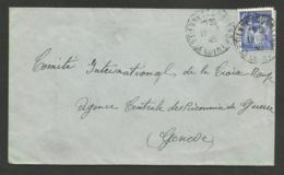 N° 656 - 4F Iris /  SAINT ETIENNE 19.01.1945 >>> Croix Rouge GENEVE - 1921-1960: Periodo Moderno