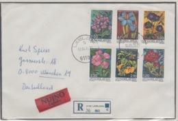 JOUGOSLAVIA REGISTERED MICHEL 1601/06 FLOWERS - 1945-1992 République Fédérative Populaire De Yougoslavie