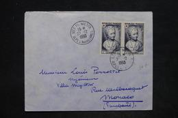 FRANCE - Enveloppe De Nice Pour Monaco En 1950, Affranchissement Croix Rouge En Paire - L 25841 - 1921-1960: Periodo Moderno