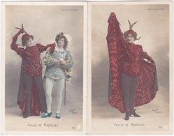 Folies-Bergère. Faust Et Méphisto. 2 Cartes (A) - Théâtre