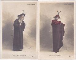 Folies-Bergère. Faust Et Méphisto. 2 Cartes (B) - Théâtre