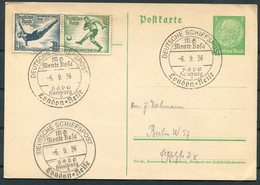1936 Germany Deutsche Schiffspost Ship Stationery Postcard. Hamburg M.S. MONTE ROSA, London Cruise. Olympics - Deutschland