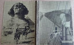 Ancien Protège Cahier (arthaud) Hélios - Sphinx De Gizeh - En Grèce,canal De Corinthe - Protège-cahiers