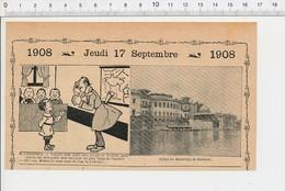 2 Scans Humour Cancre école Carte France Notion Du Le Temps C'est De L'argent Artiste-peintre Poêle Chauffage 213/5C - Vieux Papiers