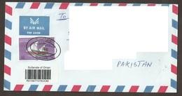 Gulf Arab Oman 1996 Omani Ships Vessels Al Baghlah Maritime Navigation Ship Boat Mi 410 Postal Cover To Pakistan - Oman