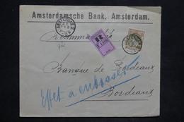 PAYS BAS - Enveloppe En Recommandé De Amsterdam Pour Bordeaux En 1902 , Affranchissement Plaisant - L 25854 - 1891-1948 (Wilhelmine)