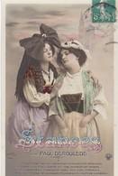 """MILITARIA. CARTE FANTAISIE. FEMMES PATRIOTIQUES. SÉRIE COMPLÈTE  5 CARTES. """" STANCES """" .PAR PAUL DEROULEDE. ANNEE 1910. - Women"""