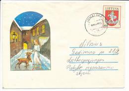 Mi 506 Solo Domestic Cover - 29 December 1992 Ignalina - Lituanie