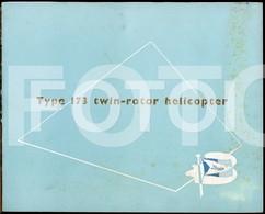 1952 RARE ORIGINAL TYPE 173 UK BRISTOL TWIN ROTOR HELICOPTER AEROPLANE COMPANY FACTORY BROCHURE CATALOGUE KATALOG - Manuals