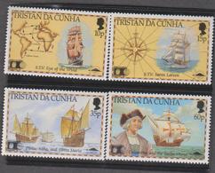 TRISTAN DA CUNHA 4 T Neufs Xx  - 1992  - 500 Ans Découverte Amérique Christophe Colomb - Tristan Da Cunha