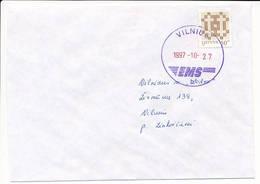 Mi 648 I Solo Domestic Cover - 27 October 1997 Vilnius EMS - Lituania