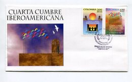 CUARTA CUMBRE IBEROAMERICANA. SOBRE COLOMBIA AÑO 1994 OBLITERES FDC PRIMER DIA ENVELOPE - LILHU - Colombie