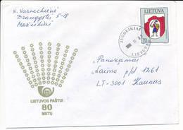 Mi 673 Solo Domestic Cover - 3 November 1998 Juodeikiai - Lituanie