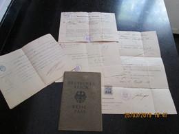 DEUTSCHES REICH 1935  PASSPORT - PASSEPORT For AGNES HESSE To Emigrate To ARGENTINA + GERMAN TESTIMONY With NAZI REVENUE - Historische Dokumente