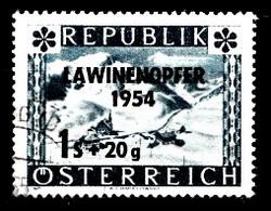 Autriche 1954 Mi.Nr: 998 Lawinenunglück Mit Aufdruck  Oblitèré / Used / Gebruikt - 1945-.... 2de Republiek