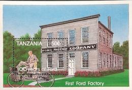 Tanzania  1994 Automotive Anniversaries S/S - Tanzania (1964-...)