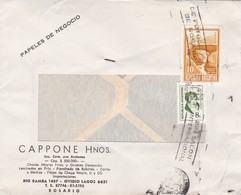 CAPPONE HNOS. COMMERCIAL ENVELOPE CIRCULEE 1973 OBLTERE ROSARIO, BANDELETA PARLANTE-ARGENTINE - BLEUP - Storia Postale
