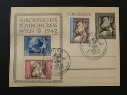 19/10/1942 Entier Postal Stationery Card Cheval Horse Congrès Postal Européen Wien Europa Postkongress - Allemagne