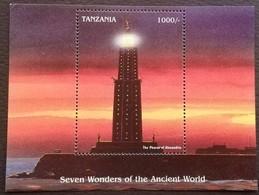 Tanzania 1997 Seven Wonders Of The Ancient World S/S - Tanzania (1964-...)
