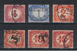 EGITTO:  1889/22  TASSE  -  6  VAL. US. -  YV/TELL. 16//25 - Service