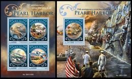 Sierra Leone 2016, Pearl Harbor, Klb + S/s MNH - Militaria