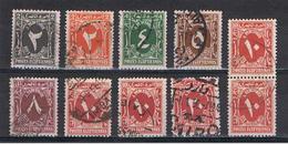 EGITTO:  1927/41  TASSE  -  INSIEME  10  VAL. US. -  YV/TELL. 30//35 - Service