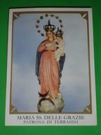 Maria SS.delle GRAZIE  Patrona Di TERRASINI Palermo Sicilia - Santino - Santini