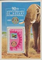Tanzania  1995 Rotary International,90th. Anniv.S/S - Tanzania (1964-...)