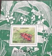 Tanzania 1996 Butterflies S/S - Tanzania (1964-...)