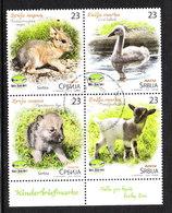 Serbia - 2018. Cigno, Agnello, Roditori. Complete Series. Swan, Lamb, Rodents. Complete Series - Cygnes