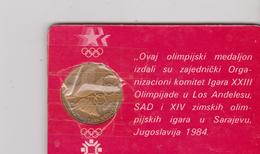 OLYMPIC WINTER GAMES SARAJEVO  1984  ~~~  MEDALLION SARAJEVO ~ LOS ANGELES - Juegos Olímpicos