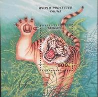 Tanzania  1994 Endangered Species S/S - Tanzania (1964-...)