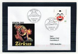 BRD, 2002, FDC (individuell/echt Gelaufen) Mit Michel 2252, Europa/Zirkus - FDC: Sobres