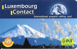 -CARTE-PREPAYEE-LUXEMBOURG-CONTACT-120U-01/04/2000-TBE - Luxemburg