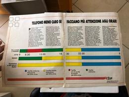 RITAGLIO DI GIORNALE D'EPOCA - SIP - FASCE ORARIE - COME DA FOTO - Phonecards
