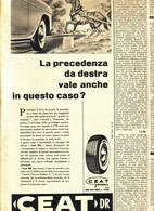(pagine-pages)PUBBLICITA' CEAT  Tempo1957/27. - Libri, Riviste, Fumetti