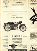 (pagine-pages)PUBBLICITA' MOTOGUZZI ZIGOLO  Tempo1957/27. - Libri, Riviste, Fumetti