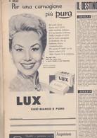 (pagine-pages)PUBBLICITA' LUX(+MITZI GAYNOR)  Tempo1957/27. - Libri, Riviste, Fumetti