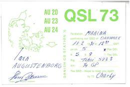 Pubblicità Cartolina Stazione CB Danese Danish CB Station QSL 73 Alla Stazione To Station Marina  Data 13 Febbraio 1971 - CB