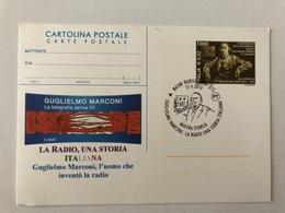 CARTOLINA POSTALE TEMATICA CENTENARIO COLLEGAMENTO RADIO TRA INGHILTERRA E CANADA - GUGLIELMO MARCONI - Phonecards