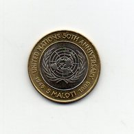 Leshoto - 1995 - 5 Maloti - 50° Anniversario Delle Nazioni Unite - Bimetallica - Vedi Foto - (MW2106) - Lesotho