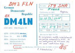 Pubblicità Cartolina Stazione German Democratic Republic DDR DM4LN Alla Stazione To Station Marina Radio IT9SHR Data 26 - CB