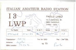 Pubblicità Cartolina Stazione CB  Italian Amateur Radio Station I3LWP Gardolo Alla Stazione To Station Marina Radio IT9S - CB