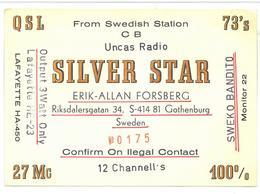 Pubblicità From Swedish Station CB Uncas Radio Silver Star Erik-Allan Forsberg Alla Stazione To Station Apollo 1  Chiara - CB