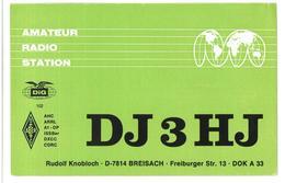 Pubblicità Amateur Radio Station DJ3HJ Freiburger Alla Stazione To Station Marina Radio IT9SHR Chiaramonte 27 Febbraio 1 - CB