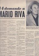 (pagine-pages)MARIO RIVA  Tempo1957/44. - Libri, Riviste, Fumetti